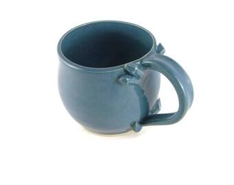 Crystal mug - crystal cup - peacock blue - mermaid mug - mystical mug