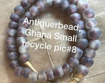 Ghana Small recycle glass beads the color is very beautiful Africa trade beads