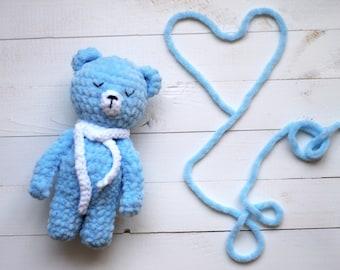 Newborn prop Teddy bear,photo prop bear,artist teddy bears,baby shower teddy Baby bear,gift photographycrochet teddy bear ooak teddy bear