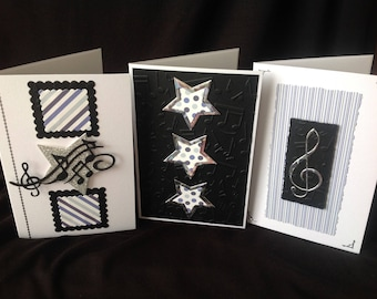 Music Greeting Cards - Limited Edition Set of 3