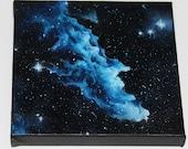 "6x6"" Mini Original Oil Painting - Nebula Mini Painting - Space Wall Art Office Gift"