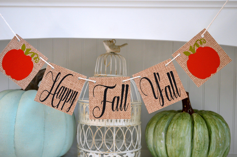 Happy Fall Y 39 All Banner Fall Banner Fall Decor