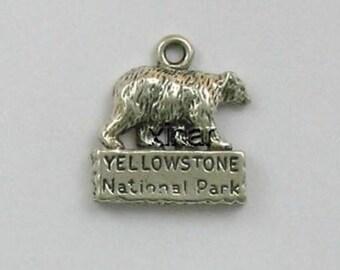 Sterling Silver Yellowstone Bear Charm