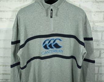 Vintage 90s CANTERBURY Big Logo Sweatshirt Size Large / Canterbury sweater / Canterbury sweatshirt