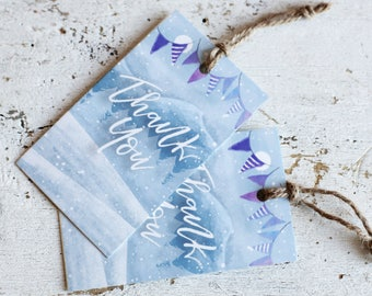 Printable Thank You Tags | Winter Wonderland | Instant Download PDF | Printable Favor Tags | Winter Event | Winter Favor Tag