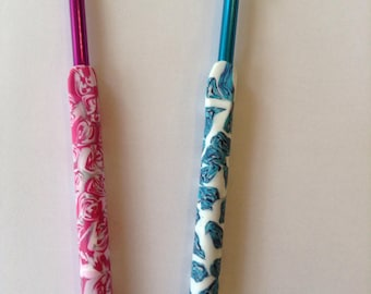 Crochet hook polymer clay handle 5.5mm
