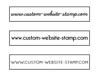 """Custom Website Stamp, personalised website stamp, internet stamp, url stamp, www stamp, custom stamp, web stamp, website stamp, 3""""x0.6"""""""