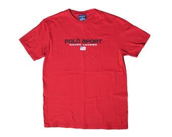 Vintage Polo Sport Ralph Lauren T-Shirt RL Small Sportswear 90s