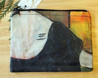 30 SHOULDERS - large reclaimed canvas zipper pouch