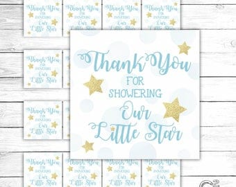 Twinkle Twinkle Blue Gift Tag