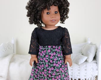 18 inch doll floral high/low skirt