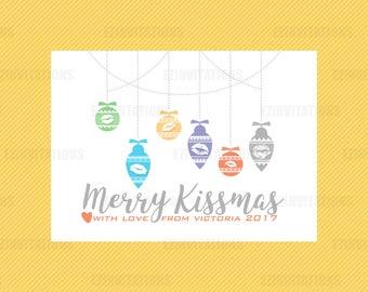 Rodan and Fields Merry Kissmas Card - R+F Holiday Christmas thank you card file - Rodan + Fields lip shield digital printable file