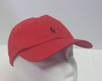 Kids Polo Ralph Lauren 90s hat cap red