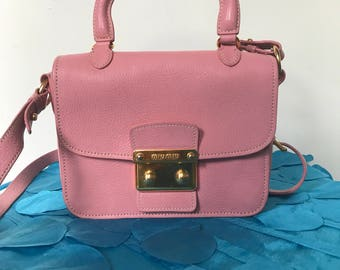 Authentic Miu Miu Madras Bag Pink