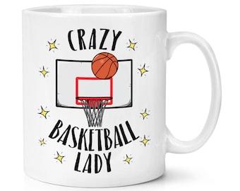 Crazy Basketball Lady 10oz Mug Cup