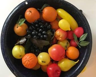 Vintage Plastic Fruit * Faux Fruit * Artificial Fruit * 1960's Decor * Crafts * Floral Arranging * Centerpiece * Retro * Mid Century