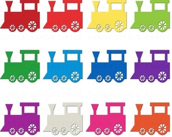 80% OFF SALE Train Clipart Digital Clip Art - Personal and Commercial Use - Instant Download - D396