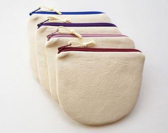 Small Light Weight Canvas Coin Purse, Zipper Pouch, Women, Organize, Clutch, Wallet, Teens, Canvas, Project Bag