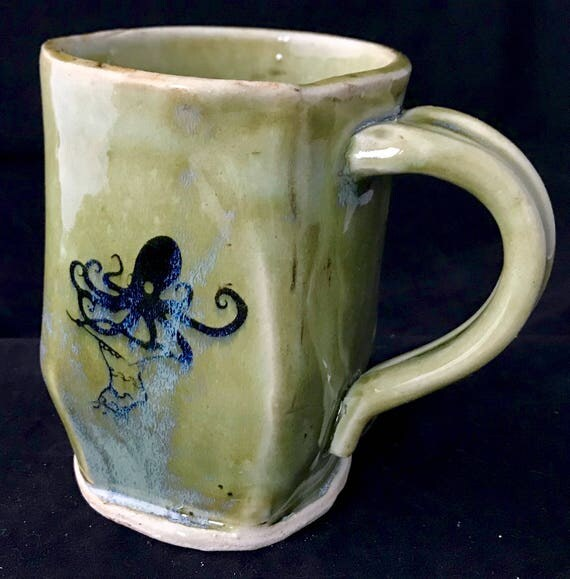 Ceramic knitting octopus mug