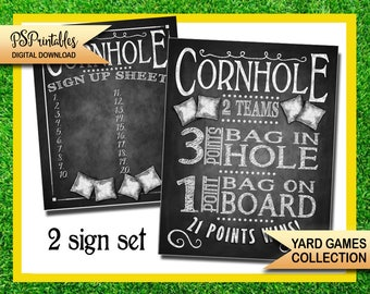 yard games -cornhole yard game sign - bbq yard games - cornhole game - yard game sign - printable yard game sign -  wedding yard games