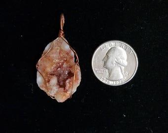 Geode copper pendant
