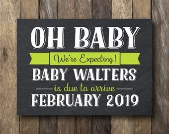 We're Expecting Pregnancy Announcement - Printable Announcement Prop