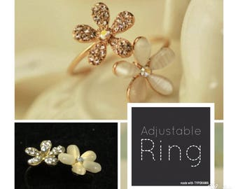 Daisy Flower | Adjustable Ring | Lilly Rose