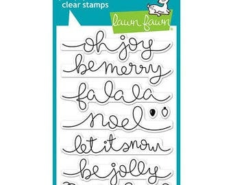 Lawn Fawn - Clear Acrylic Stamps - Winter Big Scripty Words