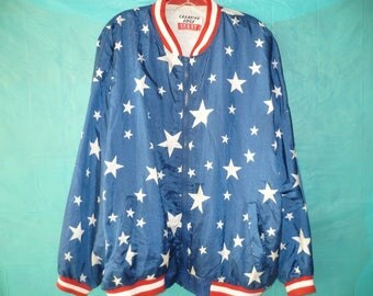 Vintage 90s Stars and Stripes Windbreaker by Creative Edge Sport 2x
