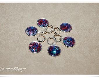 Stitch Markers Knitting Glitter 12 mm Lanyard