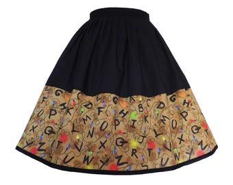 Stranger Things R-I-G-H-T-H-E-R-E Skirt - elastic waist multifit