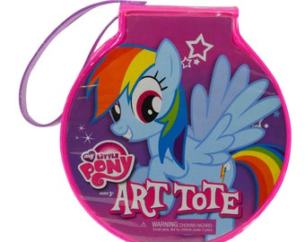 My Little Pony Officially Licensed Kids Travel Arts & Crafts Case 21pc Kit
