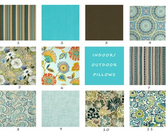 Indoor, Outdoor, Pillow Covers, Brown, Blue, Turquoise, Tan, Floral, Pillow, Floor, Cushion, Throw, Toss, Deck, Patio, Summer, Pool, Pillow