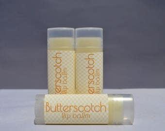 Lip Balm, Butterscotch Lip Balm, Butterscotch Chapstick, Lip Butter, Organic Lip Balm, Natural Lip Butter