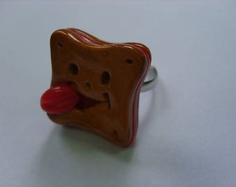 CHILD FANCY CHOCOLATE POLYMER CLAY RING