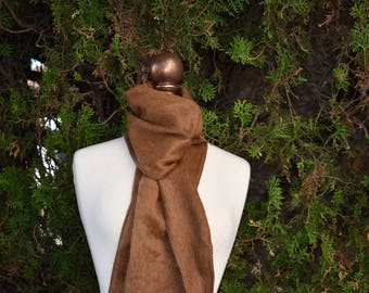 FLASH SALE December 2017 SALE! Only One Left Brown Winter Scarf Alpaca Scarves For Him or Her VerySoft Very Warm Alpaca Scarf