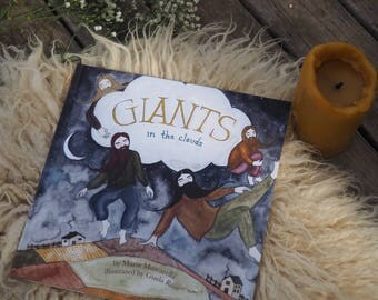 Giants in the Clouds *** Illustrated Children's Picture Book, Poetry, signed, watercolor, dreams