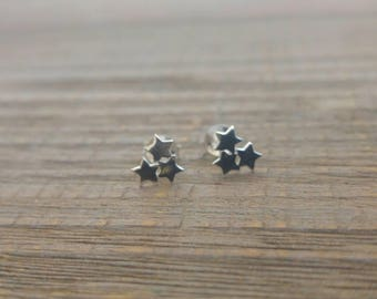 STAR EARRINGS - 925 Sterling Silver Earrings // Delicate Silver Earrings // Star Earrings // Dainty Jewelry