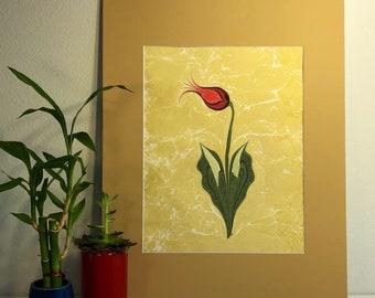 Red alone tulip
