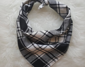 Black and White Plaid//Dog Bandana