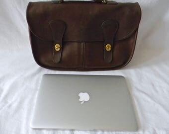 Vintage NYC Coach Mocha Leather Musette Bag