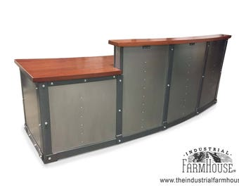 RECEPTION DESK / OFFICE: Steel Reception Desk - HeyDay