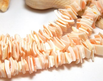 Pink Shell Chip Beads, Shell Chip Beads, Shell Beads, Ocean Beads, Beach Beads, Pink Shell Beads, Sea Beads, Pieces of Shell, ST-1