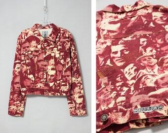 JEAN PAUL GAULTIER men's 1990S faces print denim jacket