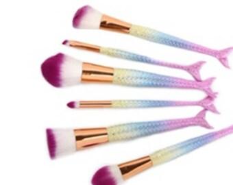 Mermaid Makeup Brushes 6pc