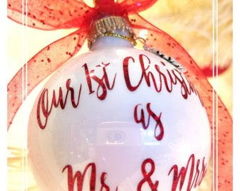 Our 1st Christmas as Mr and Mrs/ Our First Christmas as Mr and Mrs/Married Couples Christmas Ornaments/ Christmas Ornaments.