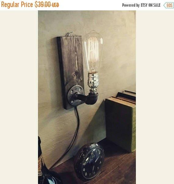 30% OFF SALE Industrial wall Lamp - Sconce - Wall Light - Steampunk Lamp  - Edison Lamp - Vintage Light - Pipe Lamp - Bedside Lamp - Loft Li