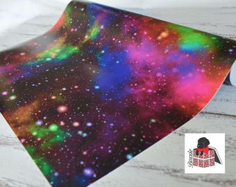 Rainbow Galaxy wrapping paper sheets space gift wrap GW5051