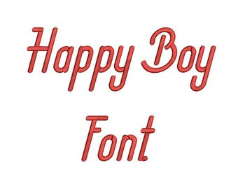 5 size Happy Boy  font  Embroidery Fonts 8 Formats Instant Download  Embroidery Pattern Machine Embroidery design PES