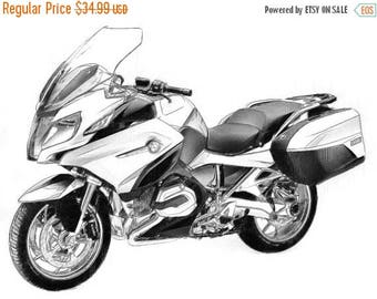 40% OFF Sale BMW R 1200 Rt  drawing T shirt (I can draw Your Bike for you)